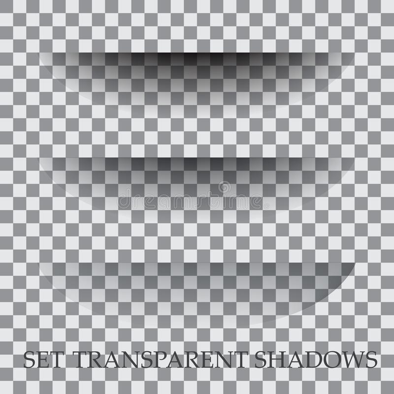 Transparent paper with realistic shadow effect is selected. vector illustration