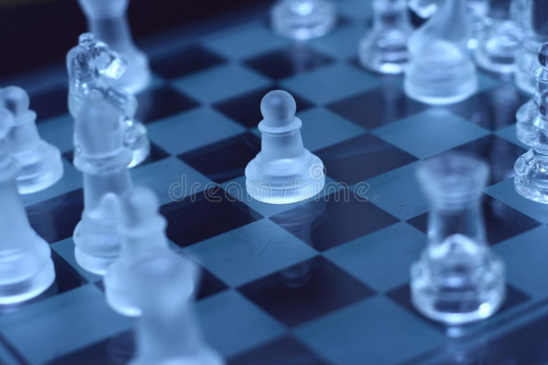 Transparent pawn chess royalty free stock image