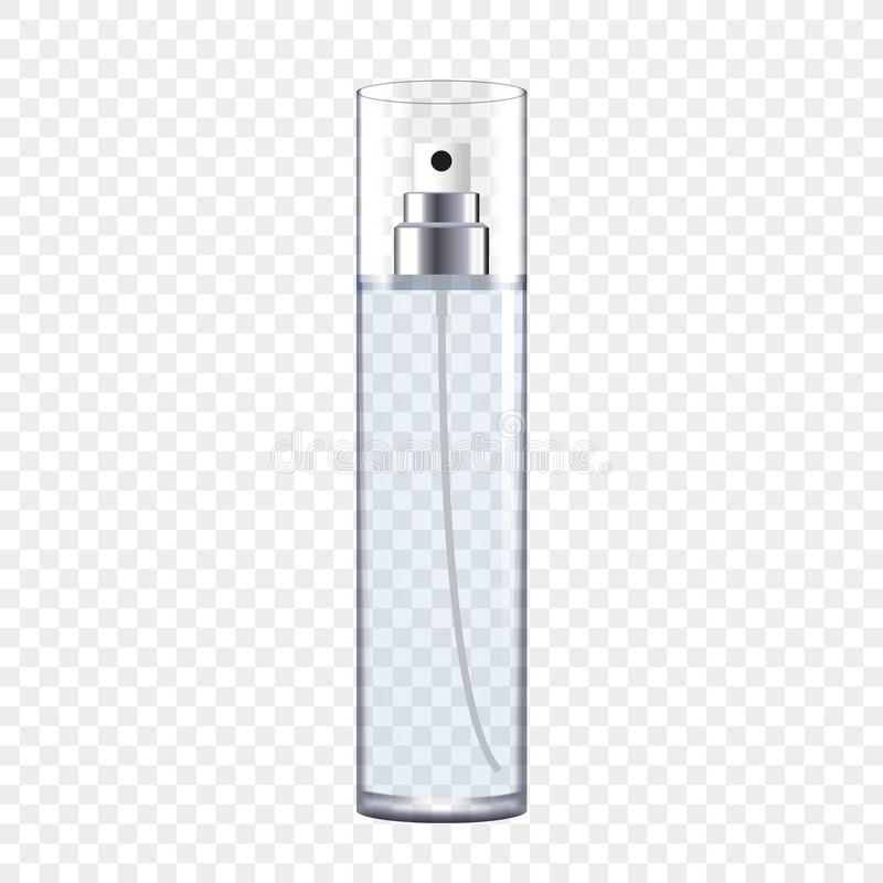 Transparent Perfume Bottle vector illustration