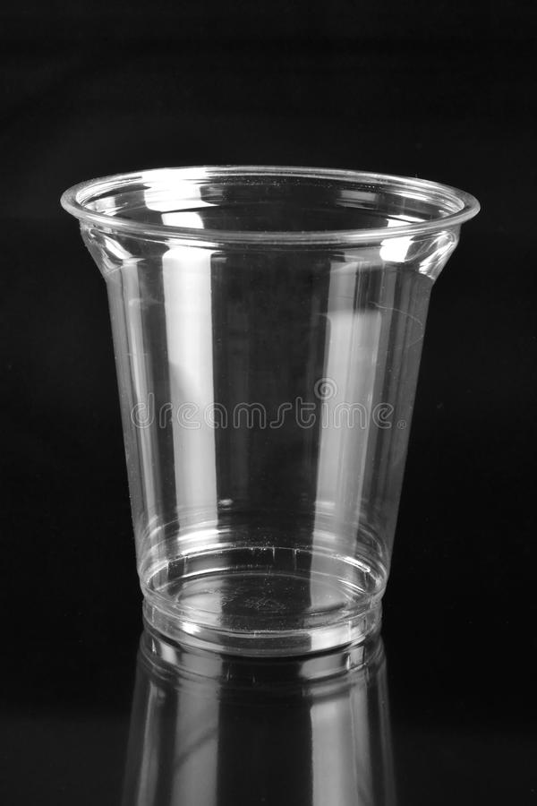 Transparent plastic cup royalty free stock photos