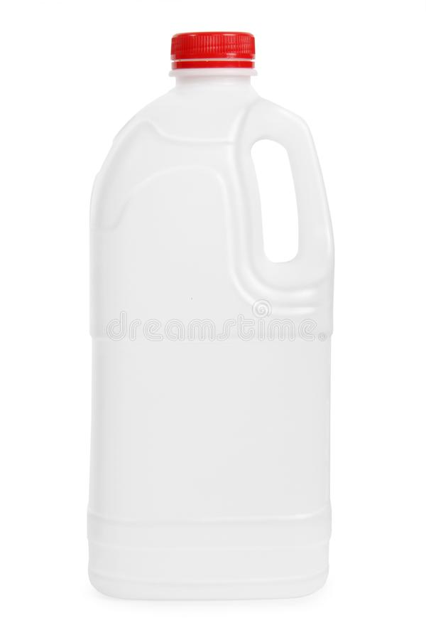 Transparent plastic gallon royalty free stock images