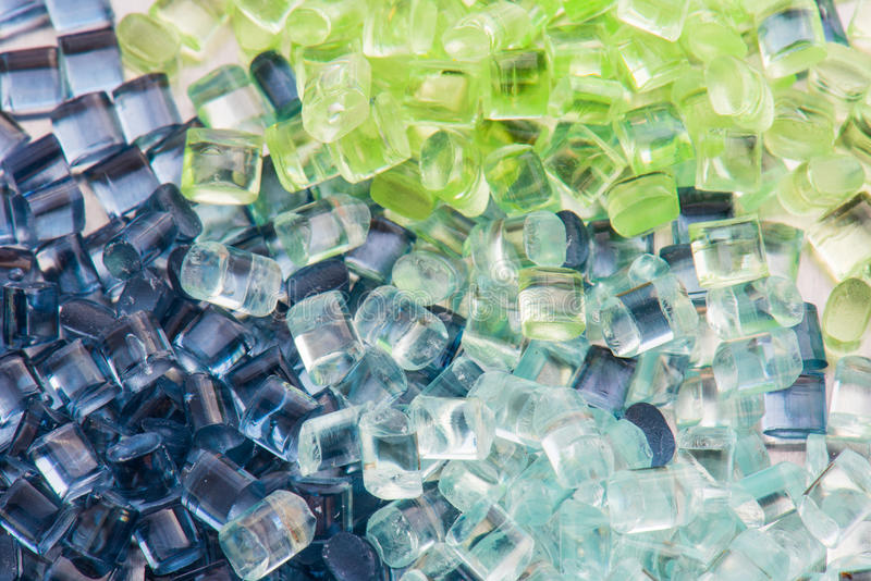 Transparent plastic resin stock image