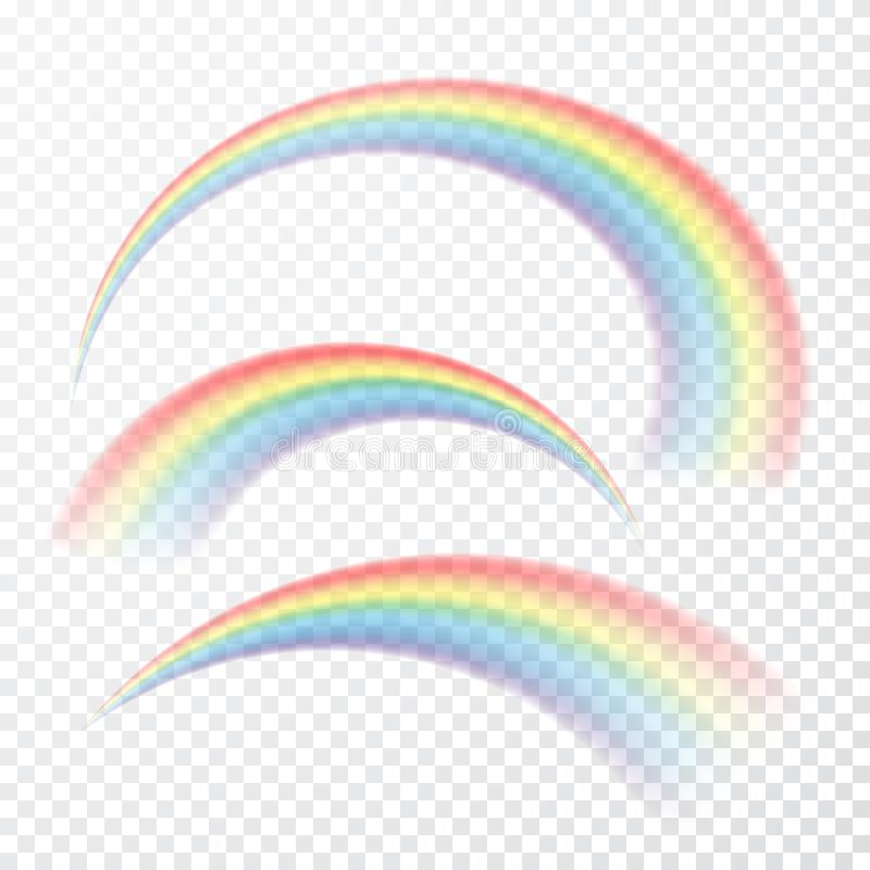 Transparent rainbow. Vector illustration. Realistic raibow on transparent background royalty free illustration