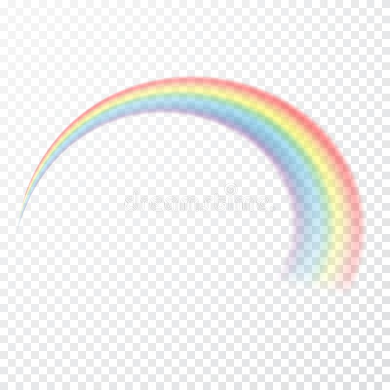 Transparent rainbow. Vector illustration. Realistic raibow on transparent background stock illustration