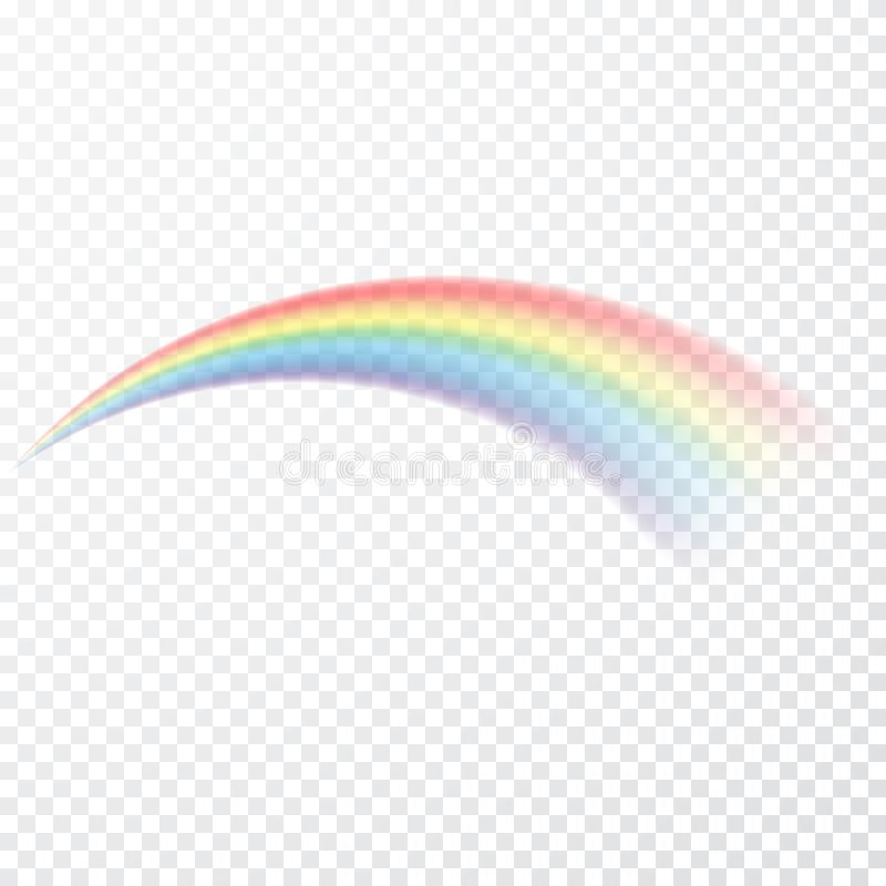 Transparent rainbow. Vector illustration. Realistic raibow on transparent background vector illustration