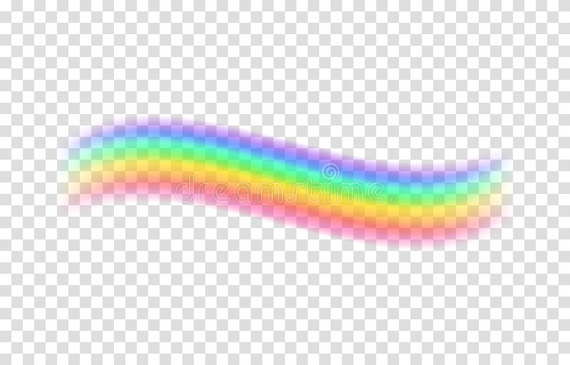 Download Transparent Rainbow Vector Illustration Stock