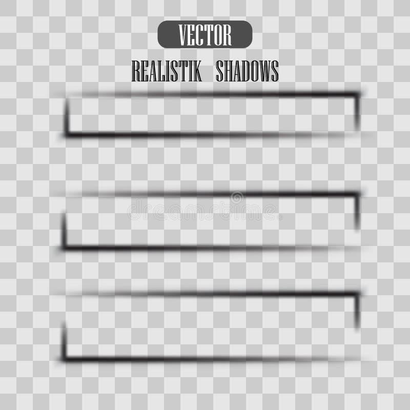 Transparent realistic paper shadow effect set. Web banner. vector illustration