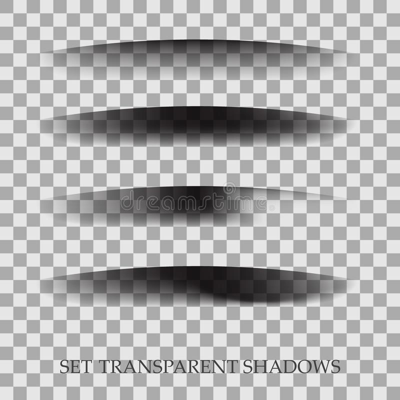 Transparent realistic paper shadow effect set. Web banner. Element for advertising and promotional message on vector illustration