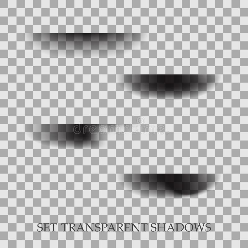 Transparent realistic paper shadow effect set. Web banner. Element for advertising and promotional message on royalty free illustration
