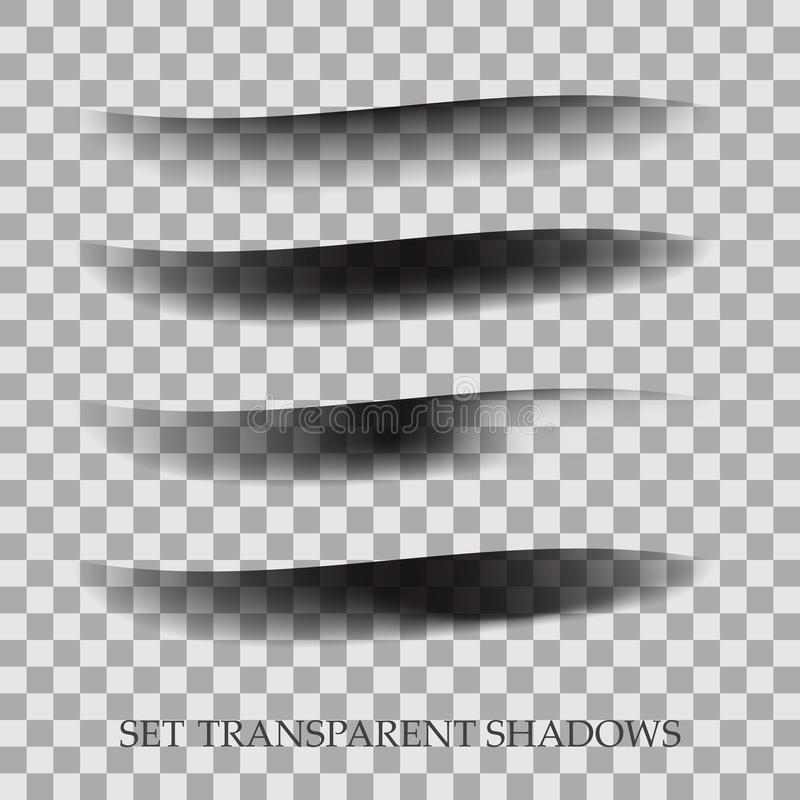 Transparent realistic paper shadow effect set. Web banner. Element for advertising and promotional message on stock illustration