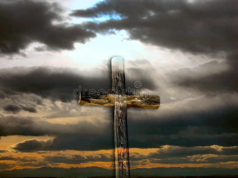 Transparent Rugged Cross royalty free stock photos