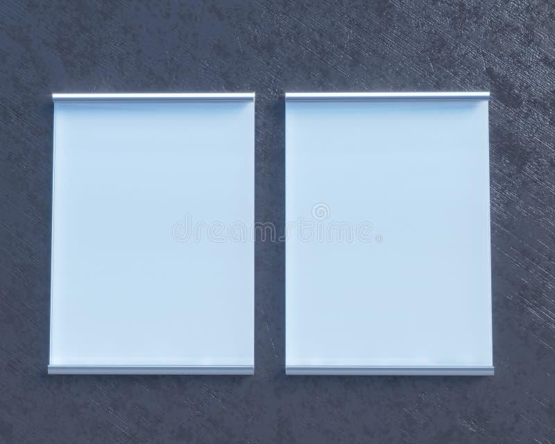 Transparent Signboard On Concrete Wall, Mock Up 3d Illustration ...