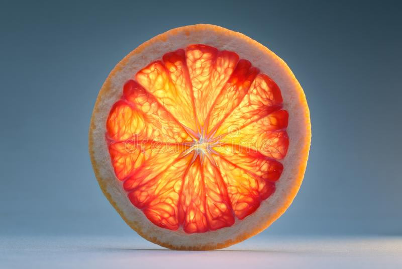 Slice of grapefruit. Transparent slice of grapefruit. See another picture from the same series stock images