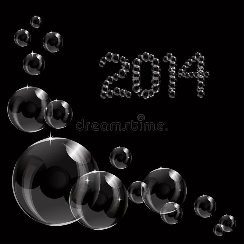A transparent soap bubble 2014 background stock images