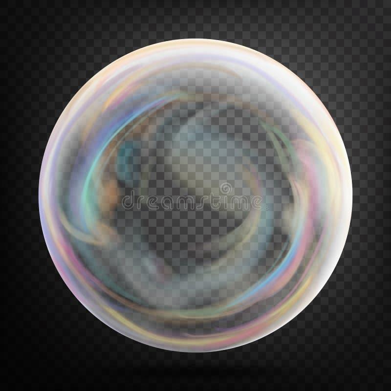 Soap Bubble. Transparent Realistic Bubble With Rainbow ...