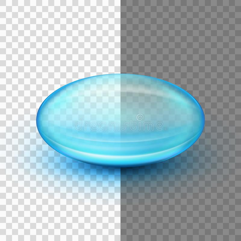 Transparent soft gel capsule. EPS 10. Transparent soft gel capsule object. Fish oil. And also includes EPS 10 vector stock illustration