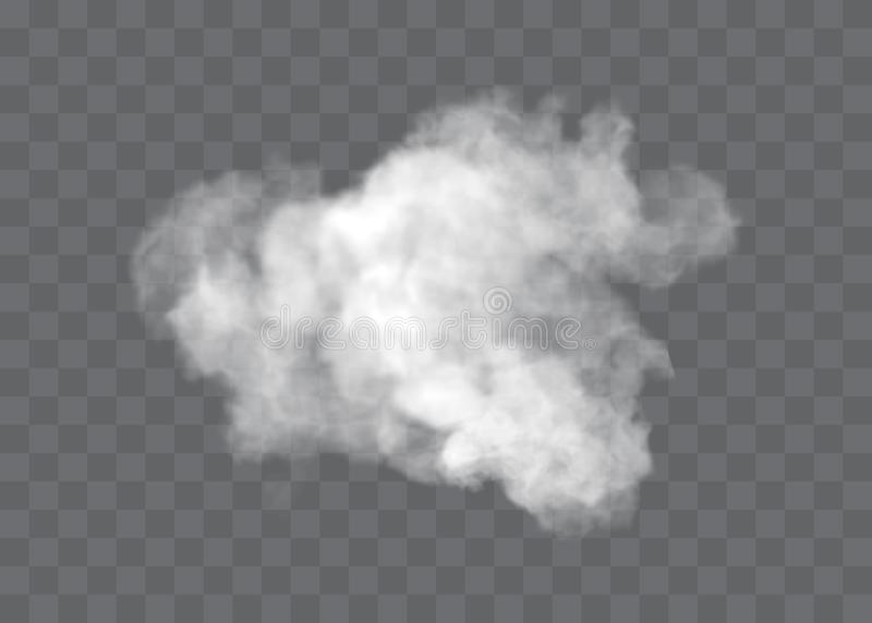 Transparent special effect stands out with fog or smoke. White cloud vector, fog or smog vector illustration