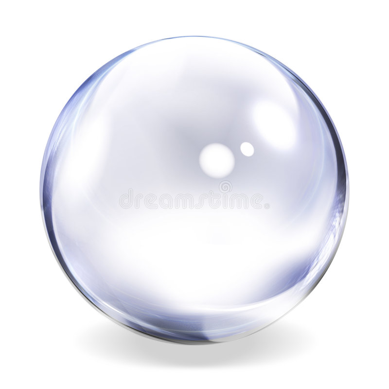 Transparent Sphere stock illustration
