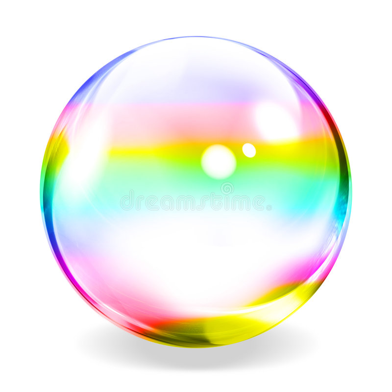 Transparent Sphere. An illustration of a transparent sphere stock illustration