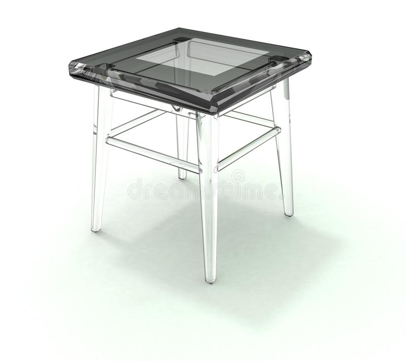 Glass stool with shadow royalty free stock images