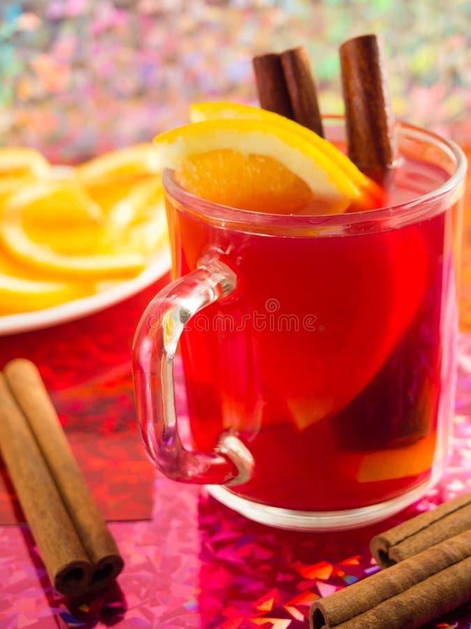 Download Transparent Tea Mug With Citrus, Cinnamon And Orange Stock Photo - Image: 83719006