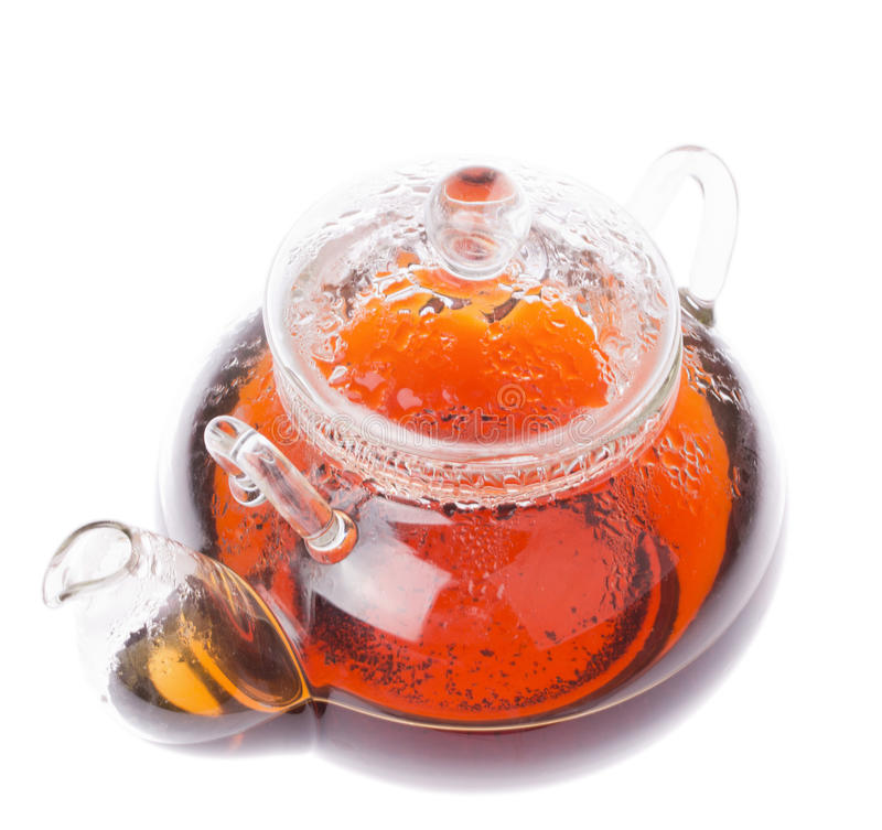 Transparent teapot stock photography