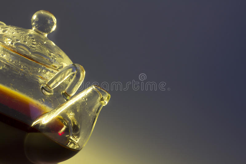 Transparent teapot stock photos