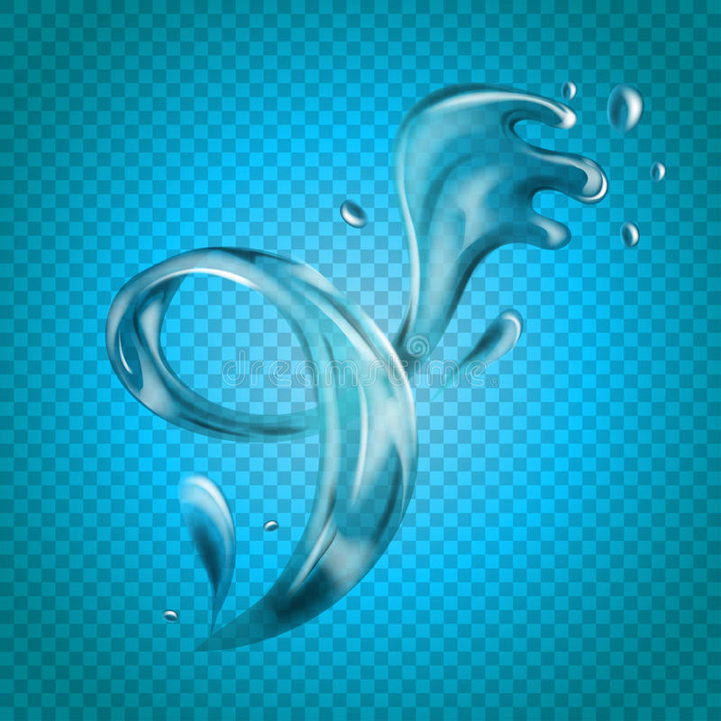 Free Transparent Vector Water Splash On Light Background Royalty Free Stock Image - 96605736