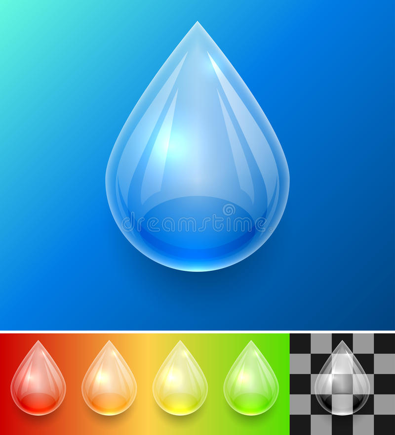 Download Transparent Water Drop Template Stock Vector - Image: 43180029
