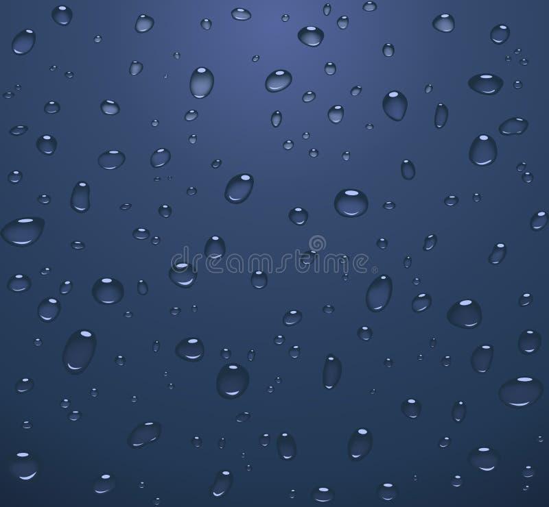 Transparent water drops royalty free stock photos