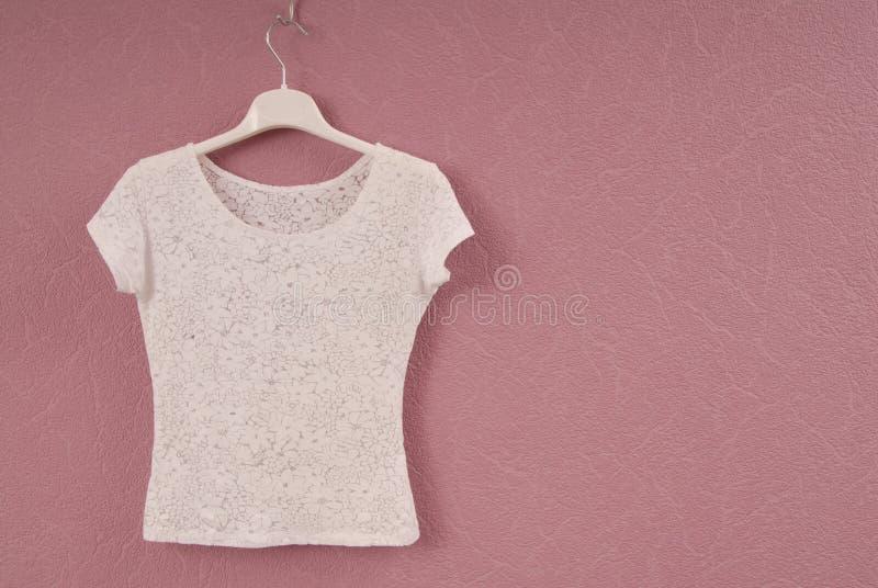 Transparent white blouse royalty free stock image