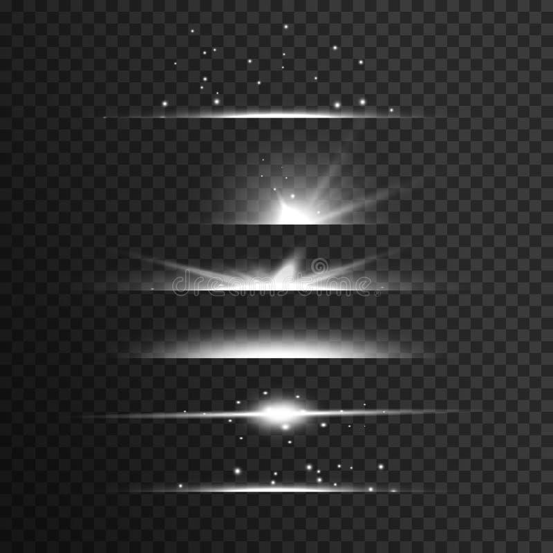 transparent white light streak effect background royalty free illustration