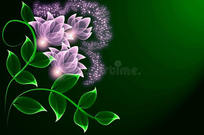 Transparente Blumen stock abbildung