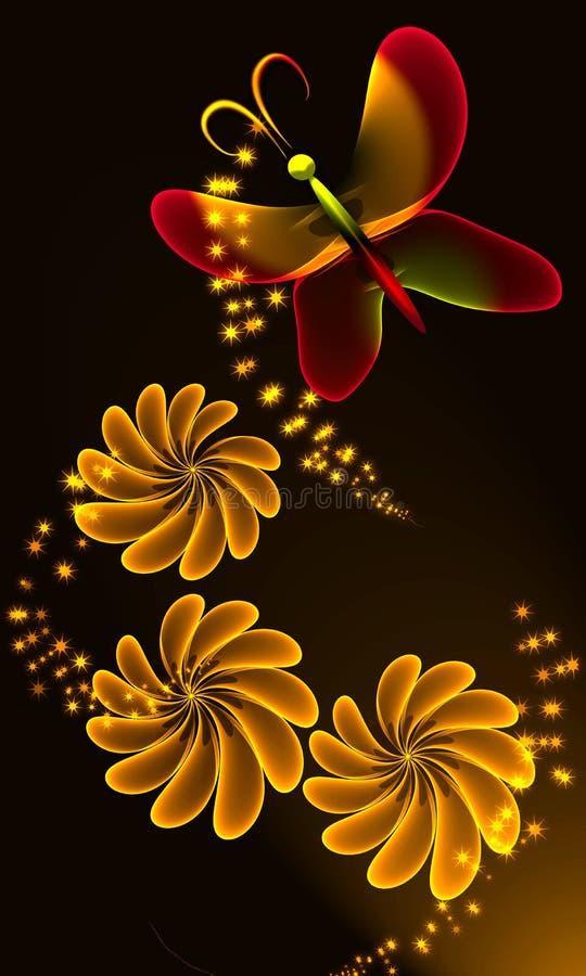 Transparente Blumen lizenzfreie abbildung