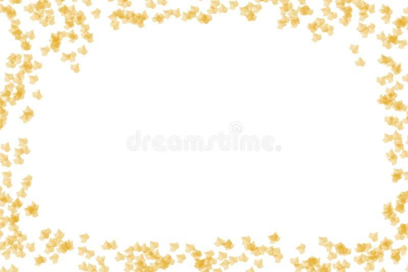 Transparente glühende cremefarbene Rahmenglückwünsche des Efeublattgelbs zur leichten Luft lizenzfreie abbildung