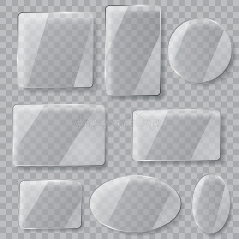 Transparente Glasplatten Transparenz nur in der Vektordatei vektor abbildung