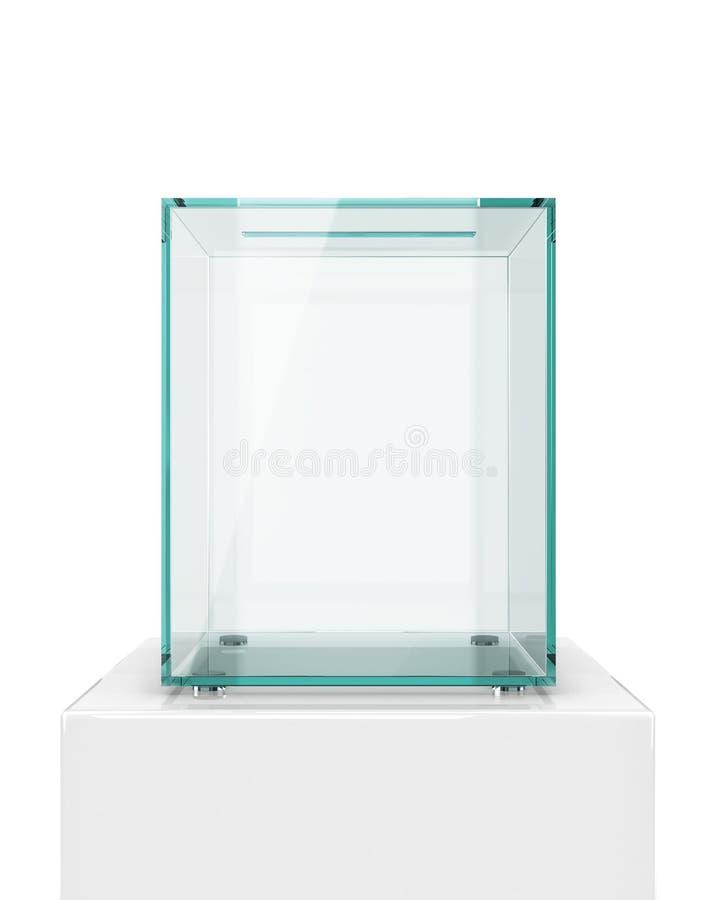 Transparente Glaswahlurne lizenzfreie abbildung