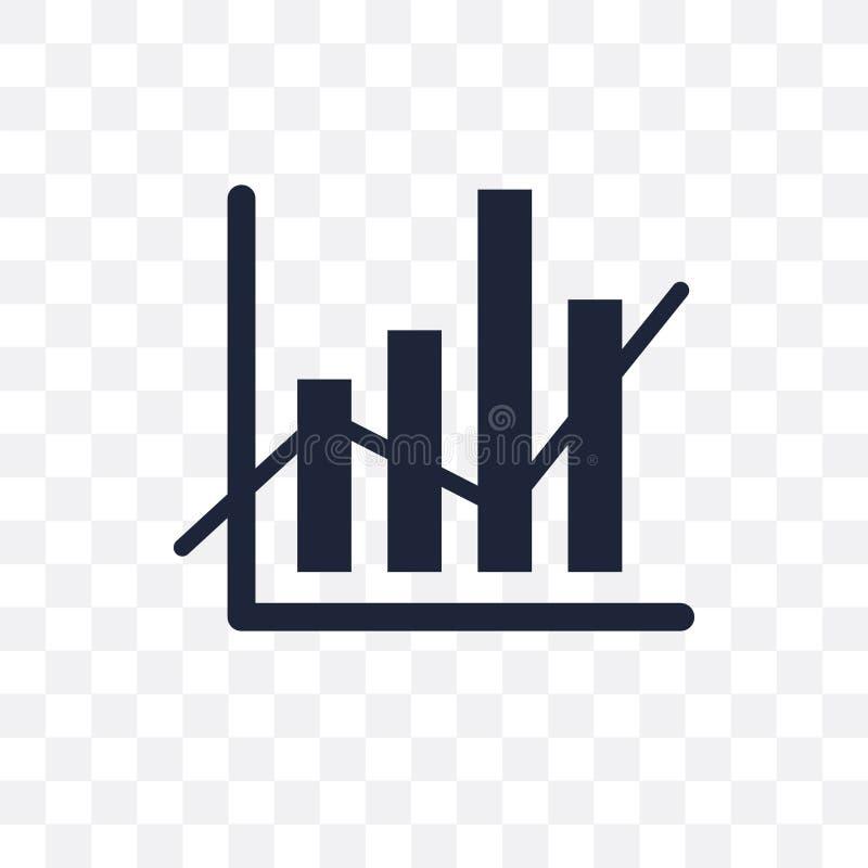 Transparente Ikone Daten Analytics Daten Analytics-Symbolentwurf Franc stock abbildung