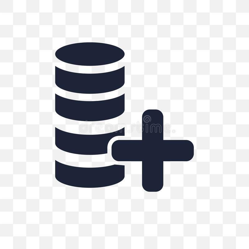 Transparente Ikone der Daten Datensymbolentwurf vom Analytics sammeln vektor abbildung