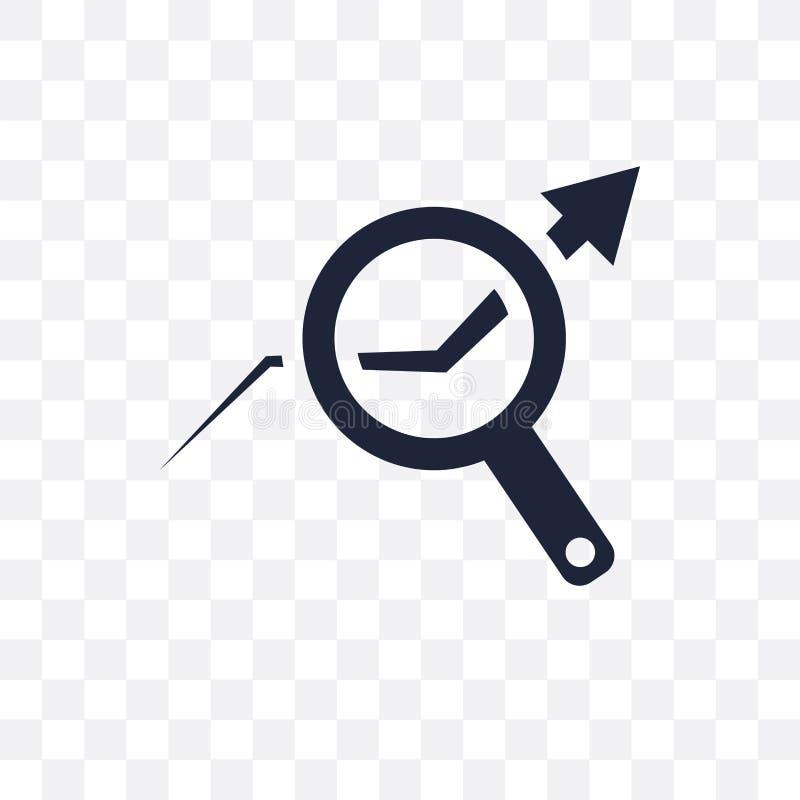 Transparente Ikone der Datenanalyse auf Lager Datenanalysesymbol auf Lager vektor abbildung