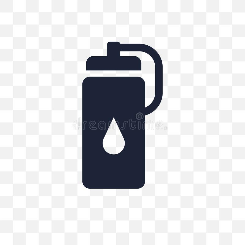 Transparente Ikone der Wasserflasche Wasserflaschen-Symbolentwurf von G stock abbildung