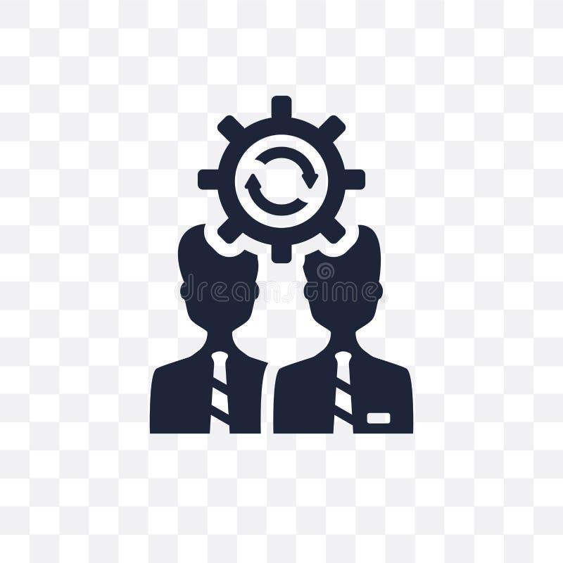 Transparente Ikone des Änderungsmanagements Änderungsmanagement-Symbol-DES stock abbildung