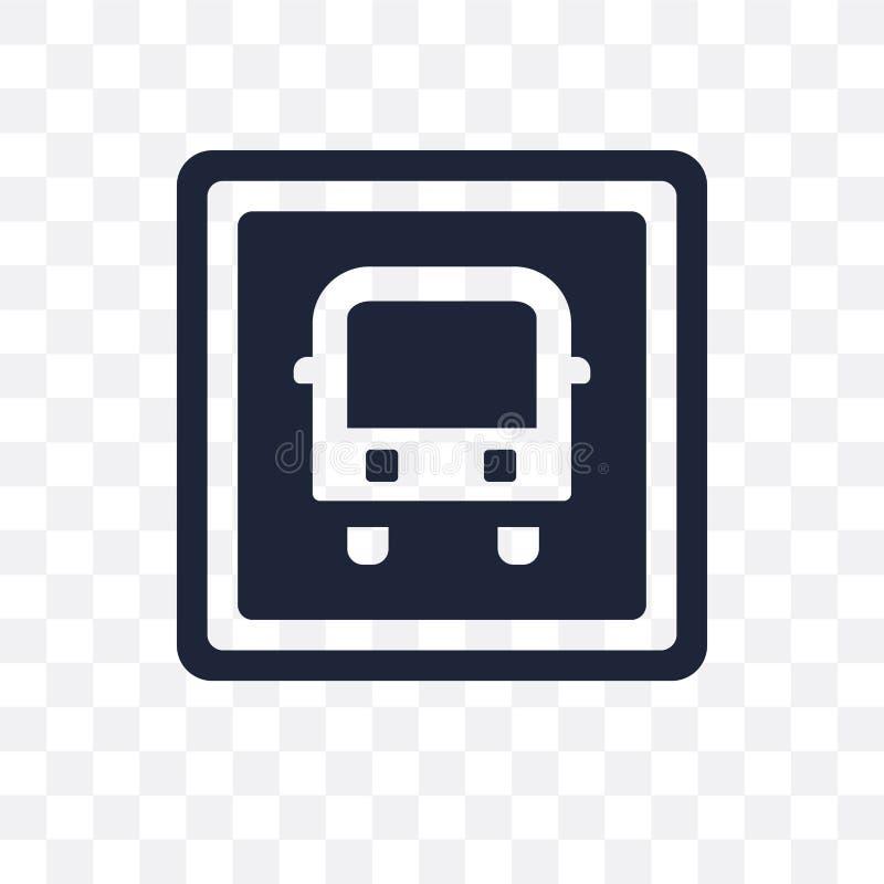 Transparente Ikone des Busstoppschildes Busstoppschild-Symbolentwurf von lizenzfreie abbildung