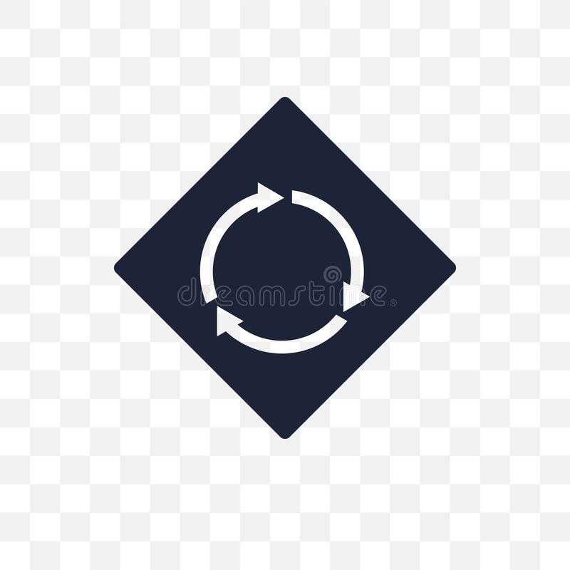 transparente Ikone des Kreisschnittzeichens Kreis-intersecti stock abbildung