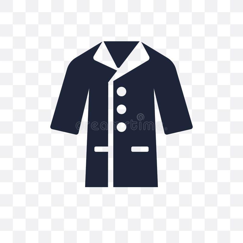 Transparente Ikone des Mantels Mantelsymbolentwurf von Kleidung collectio stock abbildung