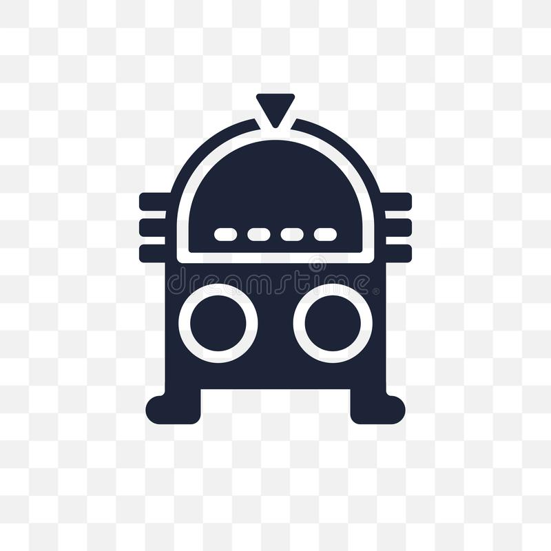 Transparente Ikone des Musikautomaten Musikautomatsymbolentwurf vom Geburtstag stock abbildung