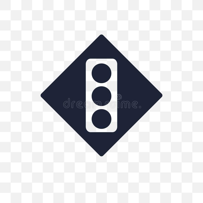 Transparente Ikone des Signalzeichens Signalzeichen-Symbolentwurf von Tra lizenzfreie abbildung