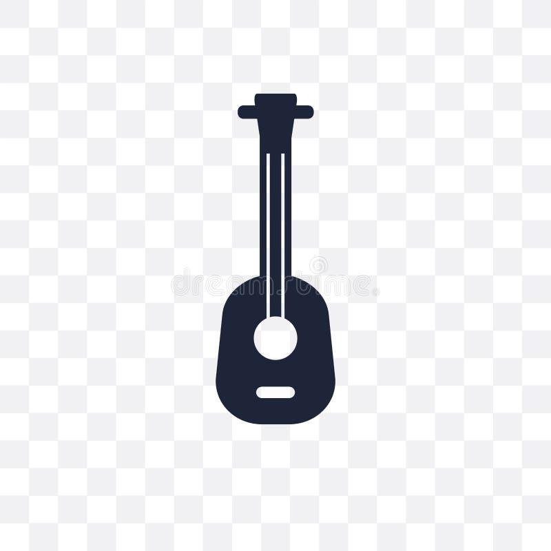 Transparente Ikone Ukelele Ukelele-Symbolentwurf von Musik colle vektor abbildung