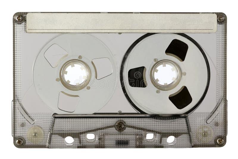 Transparente kompakte Kassette lizenzfreie stockbilder