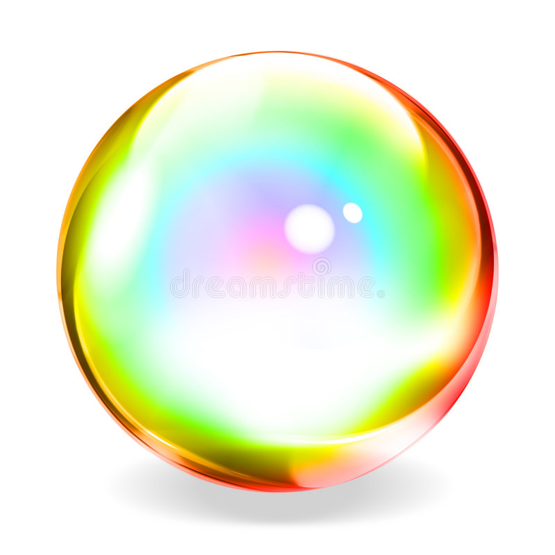 Transparente Kugel vektor abbildung